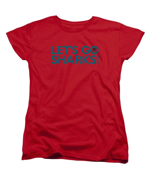 Let's Go Sharks Women's T-Shirt (Standard Cut) by Florian Rodarte