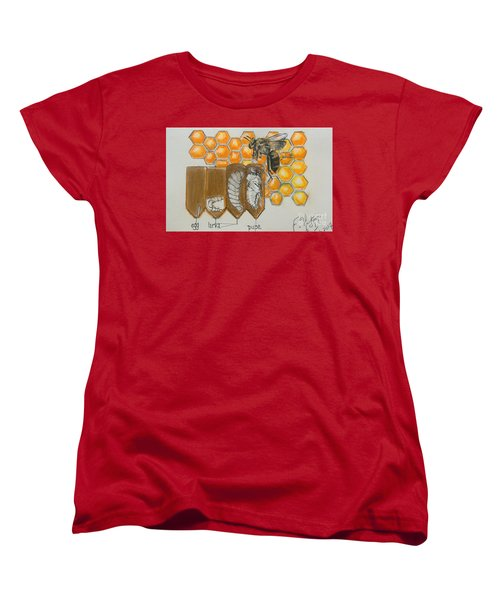 Life Cycle Of A Bee  Women's T-Shirt (Standard Cut)