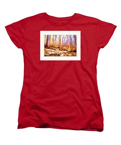 Light Between The Trees Women's T-Shirt (Standard Cut) by Felipe Adan Lerma
