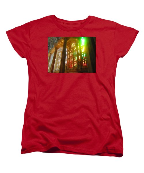 Women's T-Shirt (Standard Cut) featuring the photograph Light Of Gaudi by Christin Brodie