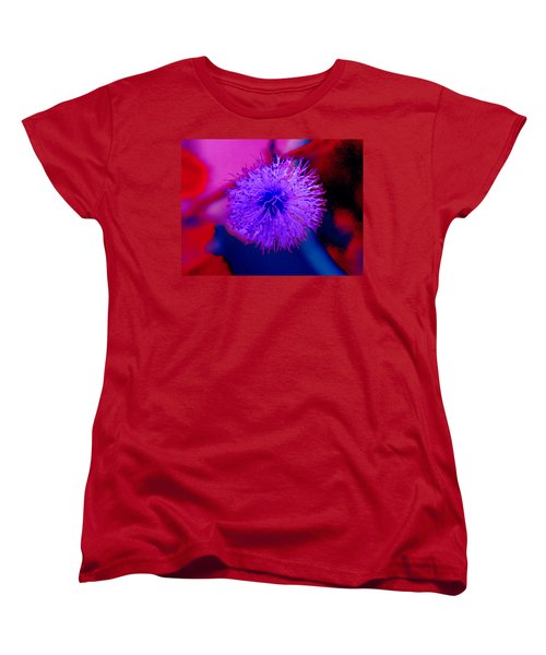 Light Purple Puff Explosion Women's T-Shirt (Standard Cut) by Samantha Thome