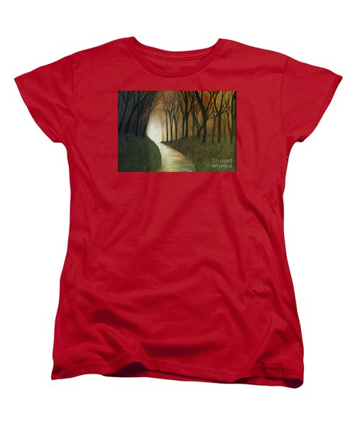 Women's T-Shirt (Standard Cut) featuring the painting Light The Path by Christy Saunders Church