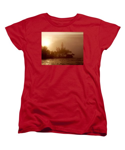 Lighthouse Point Sunrise Women's T-Shirt (Standard Cut) by Brent L Ander