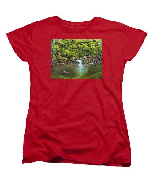 Like Ducks On Water Women's T-Shirt (Standard Cut)