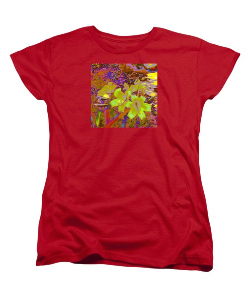Lily Glow Yellow Women's T-Shirt (Standard Cut) by M Diane Bonaparte