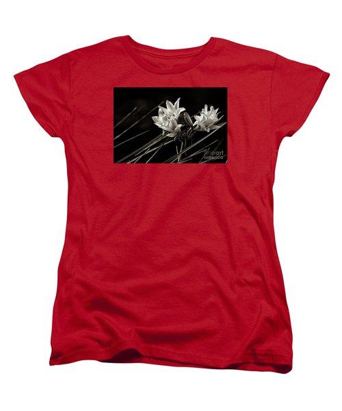 Lily In Monochrome Women's T-Shirt (Standard Cut) by Nicholas Burningham