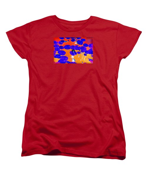 Women's T-Shirt (Standard Cut) featuring the photograph Lilypad Explosion by Linda Olsen