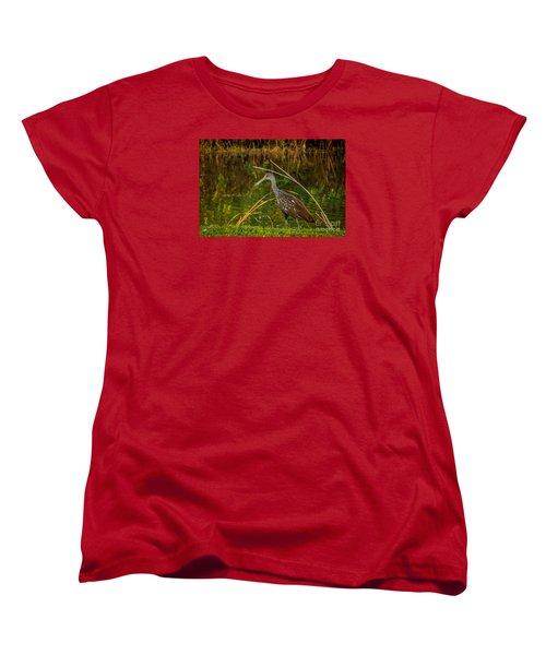 Limpkin At Water's Edge Women's T-Shirt (Standard Cut) by Tom Claud