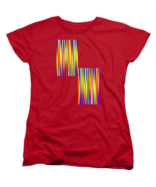 Women's T-Shirt (Standard Cut) featuring the digital art Lines 17 by Bruce Stanfield