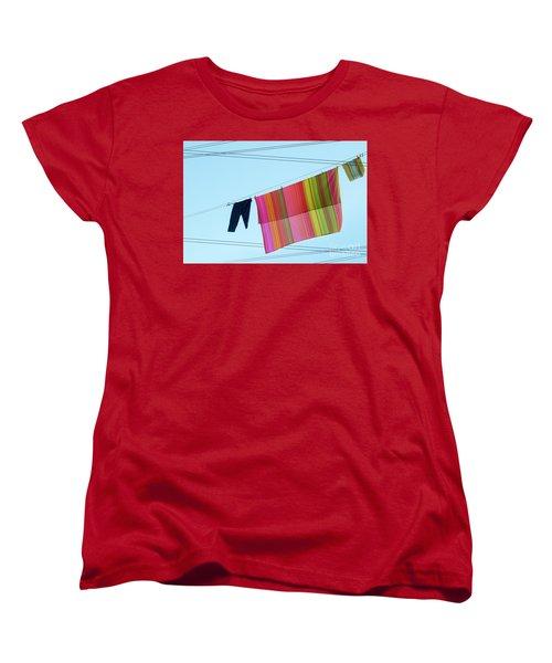 Lines In The Sky Women's T-Shirt (Standard Cut) by Ana Mireles