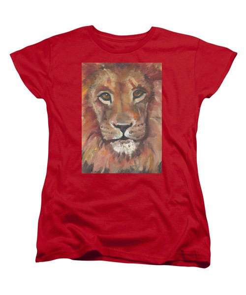 Lion Women's T-Shirt (Standard Cut) by Jessmyne Stephenson