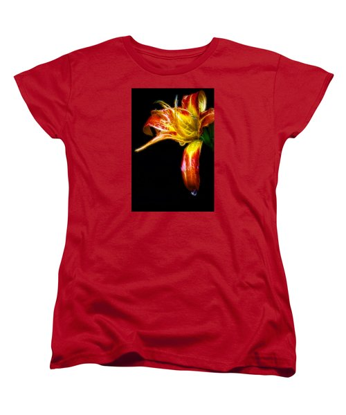 Liquid Lily Women's T-Shirt (Standard Cut) by Cameron Wood
