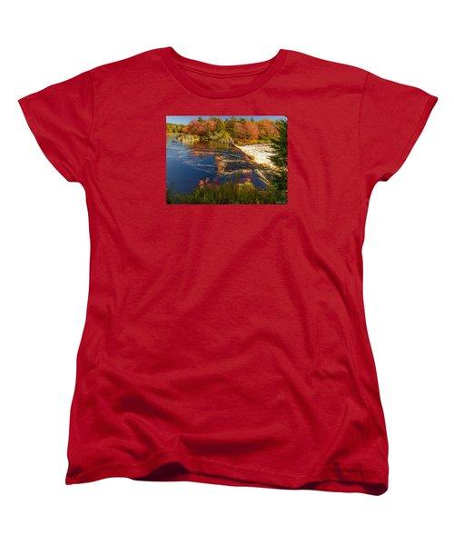 Liscombe Falls Women's T-Shirt (Standard Cut) by Ken Morris