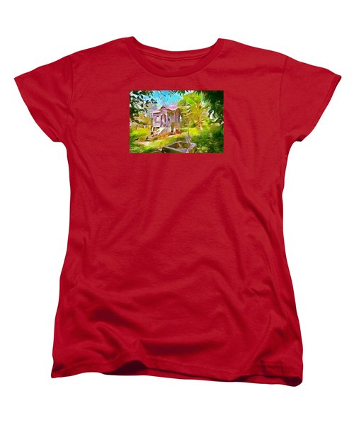 Caribbean Scenes - Little Country House Women's T-Shirt (Standard Cut) by Wayne Pascall