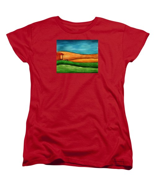 Little House On Hill Women's T-Shirt (Standard Cut) by Brenda Bryant