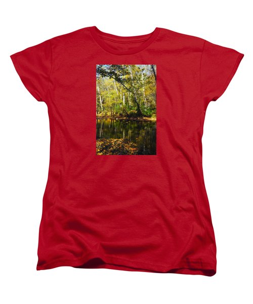 Women's T-Shirt (Standard Cut) featuring the photograph Little Miami River by Beth Akerman