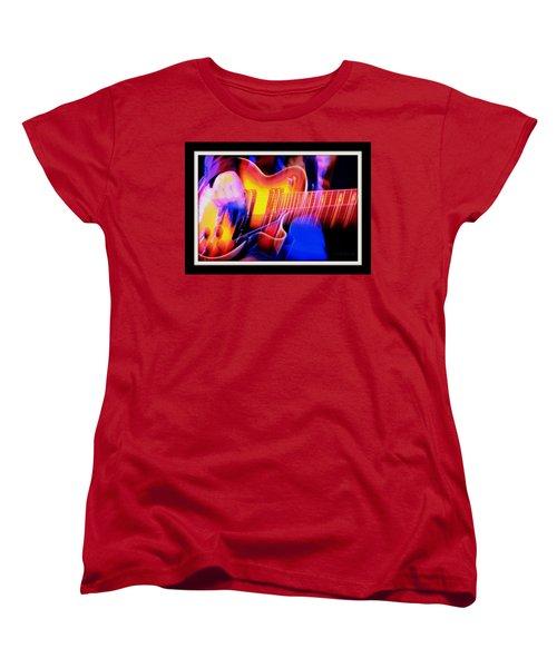 Women's T-Shirt (Standard Cut) featuring the photograph Live Music by Chris Berry