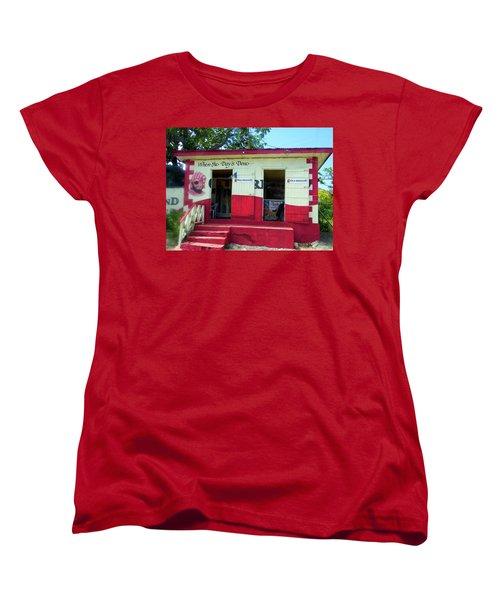 Women's T-Shirt (Standard Cut) featuring the photograph Local Rum Shop, Barbados by Kurt Van Wagner