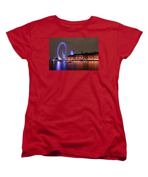 London Eye By Night Women's T-Shirt (Standard Cut) by RKAB Works