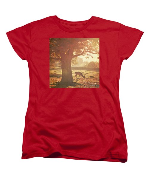 Women's T-Shirt (Standard Cut) featuring the photograph Lone Deer by Lyn Randle