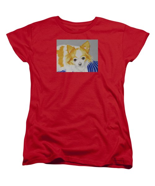 Long-haired Chihuahua Women's T-Shirt (Standard Cut) by Hilda and Jose Garrancho