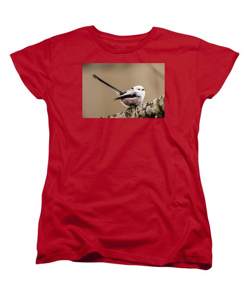 Long-tailed Tit Wag The Tail Women's T-Shirt (Standard Cut) by Torbjorn Swenelius