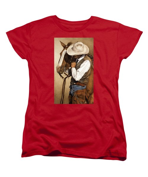 Women's T-Shirt (Standard Cut) featuring the painting Long Time Partners by Pat Erickson