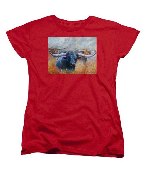 Longhorn Country Women's T-Shirt (Standard Cut) by Karen Kennedy Chatham