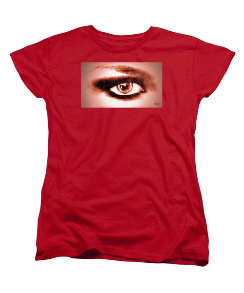 Look Into My Eye Women's T-Shirt (Standard Cut) by Paula Ayers