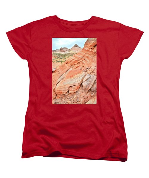 Women's T-Shirt (Standard Cut) featuring the photograph Looking South In Valley Of Fire by Ray Mathis