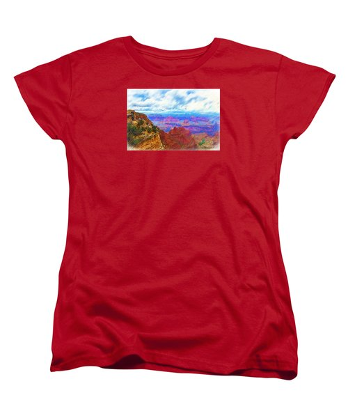 Women's T-Shirt (Standard Cut) featuring the digital art Lookout Studio Sketched by Kirt Tisdale