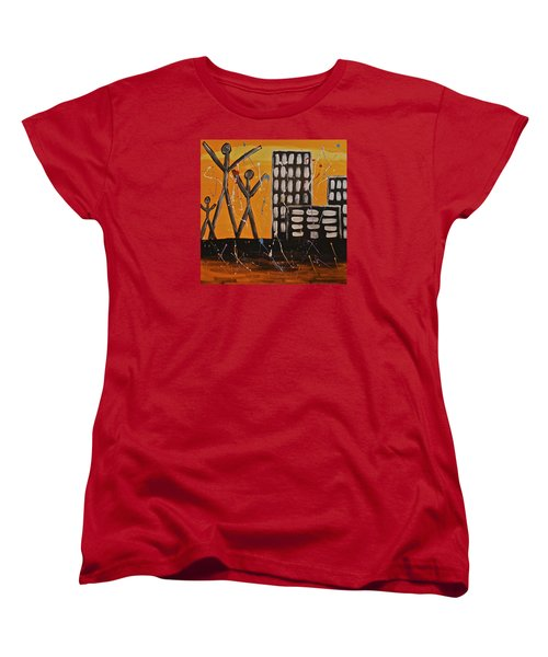 Women's T-Shirt (Standard Cut) featuring the painting Lost Cities 13-002 by Mario Perron