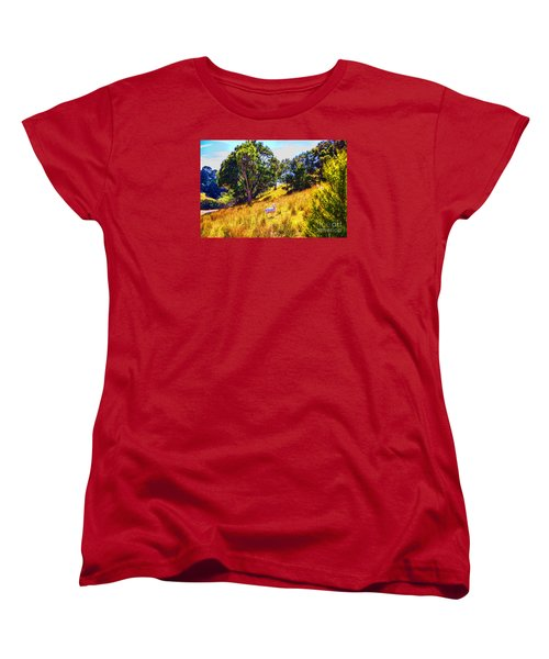 Women's T-Shirt (Standard Cut) featuring the photograph Lost Lamb by Rick Bragan