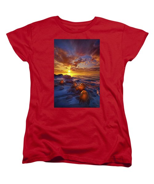 Women's T-Shirt (Standard Cut) featuring the photograph Lost Titles, Forgotten Rhymes by Phil Koch