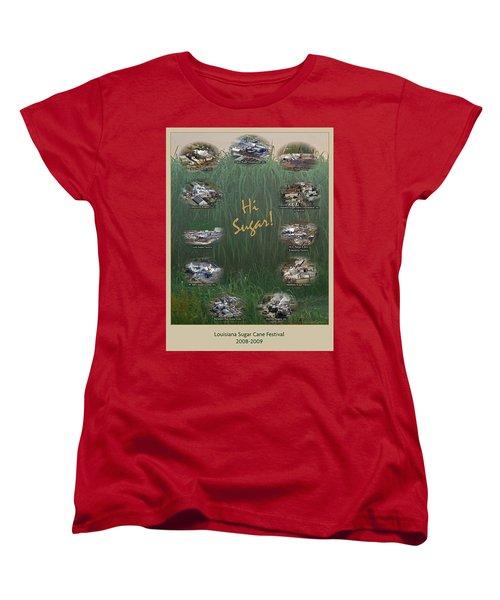 Louisiana Sugar Cane Poster 2008-2009 Women's T-Shirt (Standard Cut) by Ronald Olivier