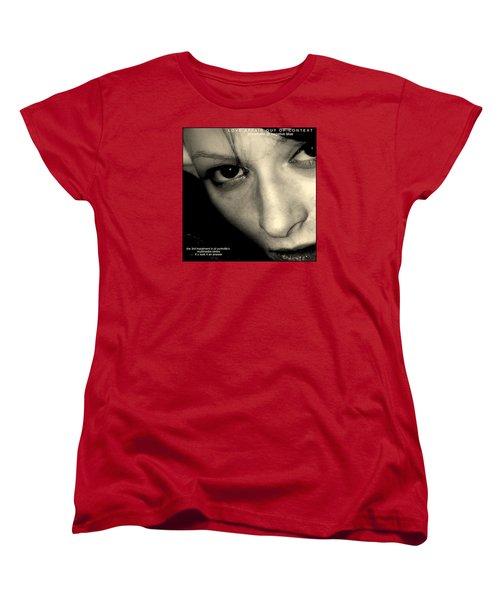 Love Affair Out Of Context A Bogus Album Cover Women's T-Shirt (Standard Cut) by Jack Dillhunt