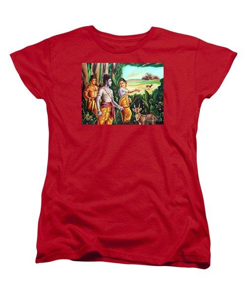 Love And Valour- Ramayana- The Divine Saga Women's T-Shirt (Standard Cut) by Ragunath Venkatraman
