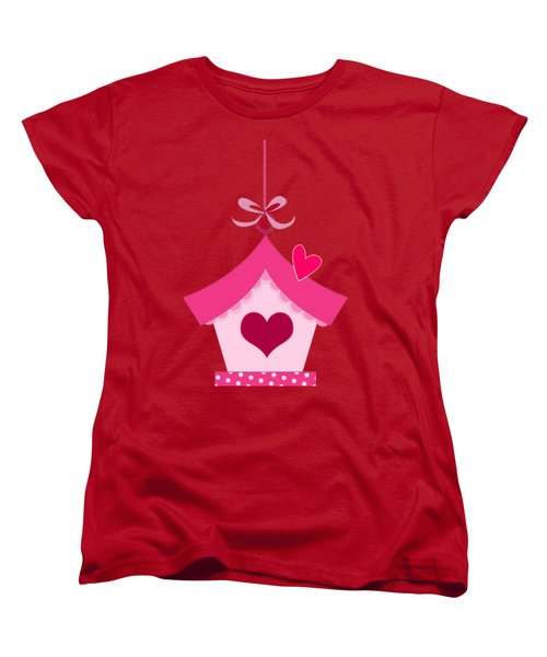 Love House T-shirt Women's T-Shirt (Standard Cut) by Herb Strobino