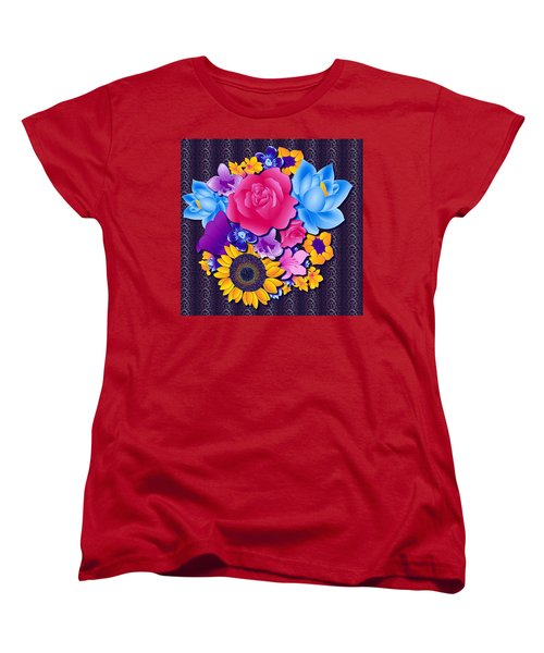 Lovely Bouquet Women's T-Shirt (Standard Cut) by Samantha Thome