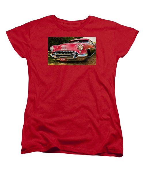 Women's T-Shirt (Standard Cut) featuring the photograph Low Rider Olds by Trey Foerster