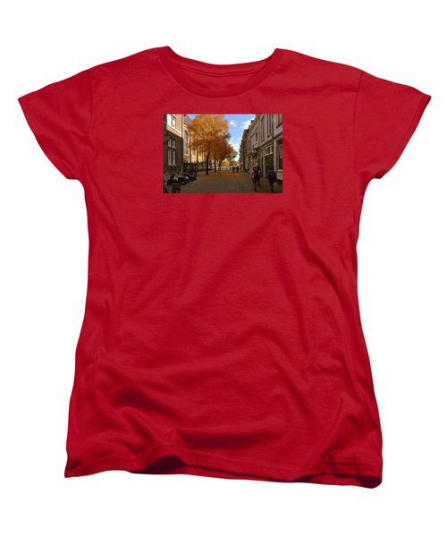 Little Lady Mary Square In October Maastricht Women's T-Shirt (Standard Cut) by Nop Briex