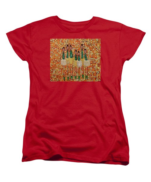 Women's T-Shirt (Standard Cut) featuring the painting Lucky Seven by Donna Howard