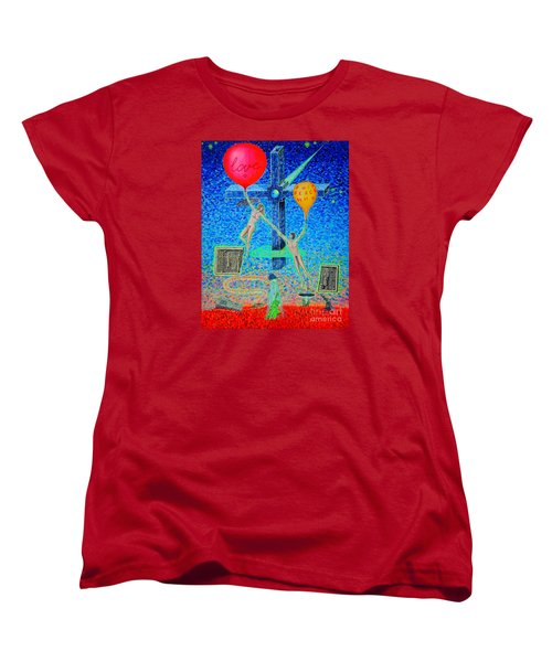 Women's T-Shirt (Standard Cut) featuring the painting L.v P. by Viktor Lazarev