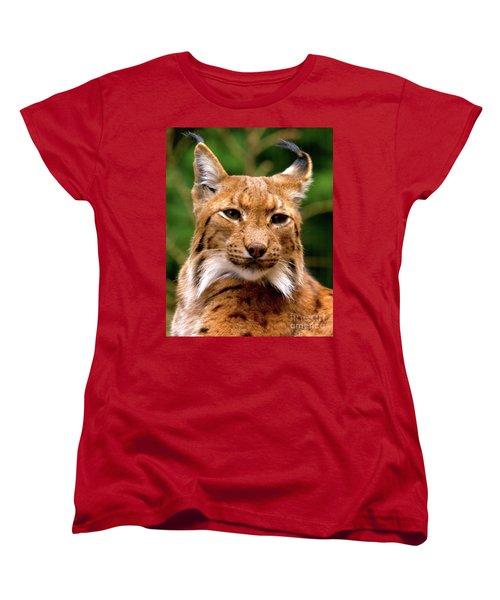 Lynx Portrait Women's T-Shirt (Standard Cut) by Baggieoldboy