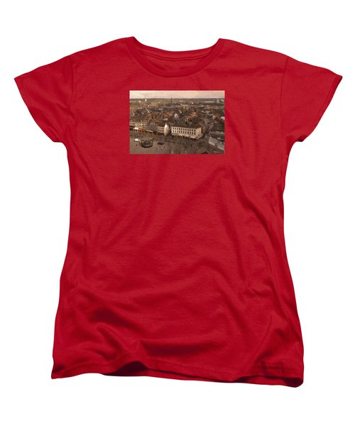 Women's T-Shirt (Standard Cut) featuring the painting Maastricht Direction East by Nop Briex