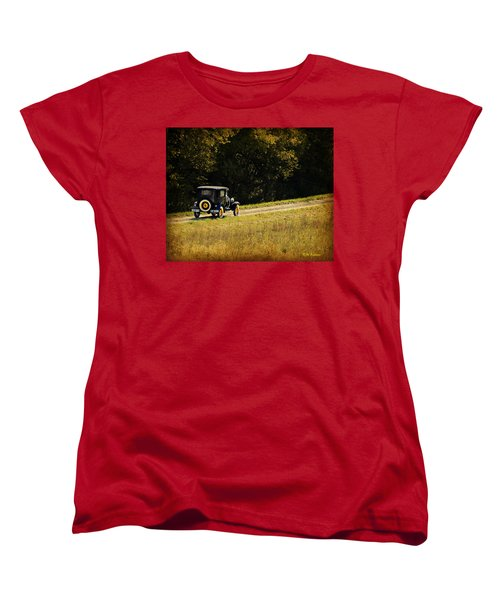Madison County Back Roads-ford Women's T-Shirt (Standard Cut) by Kathy M Krause