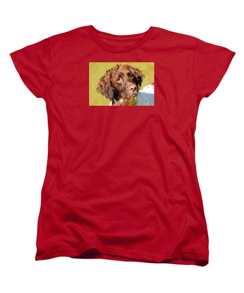 Maggie Head Photo Art Women's T-Shirt (Standard Cut) by Constantine Gregory