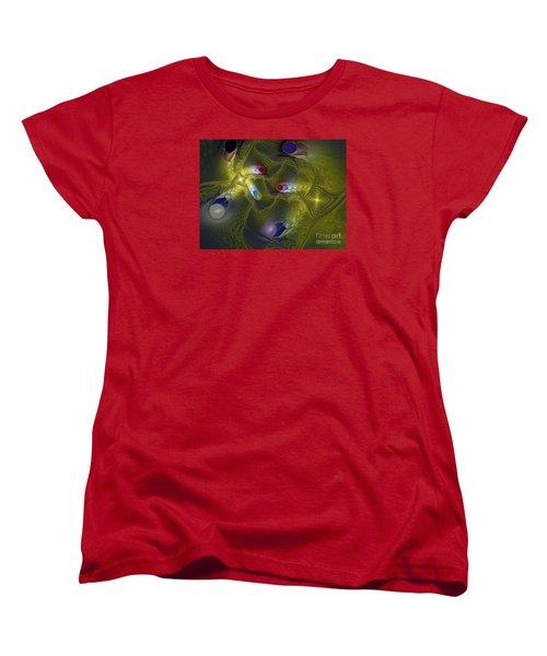 Women's T-Shirt (Standard Cut) featuring the digital art Magic Carpet by Karin Kuhlmann