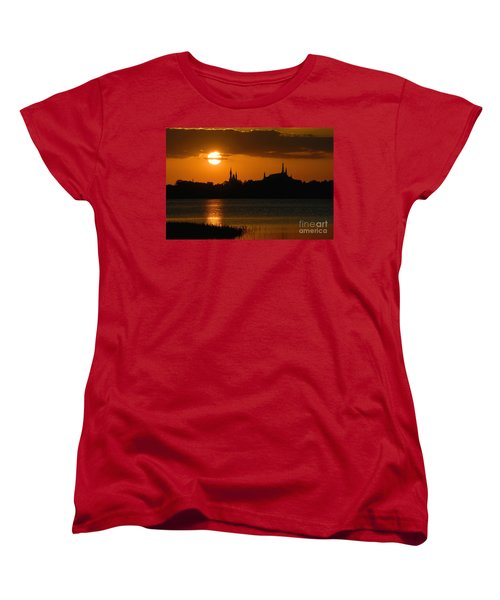 Magic Kingdom Sunset Women's T-Shirt (Standard Cut) by David Lee Thompson
