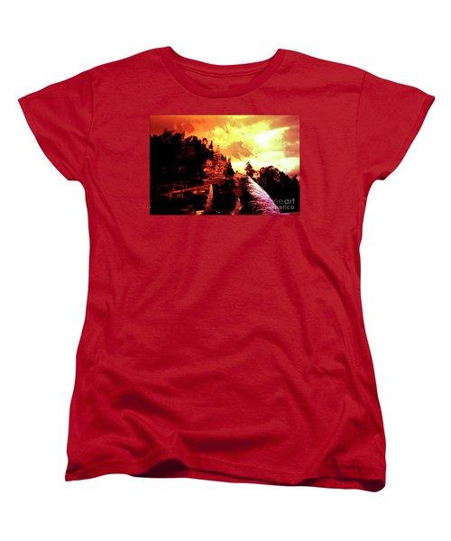 Women's T-Shirt (Standard Cut) featuring the photograph Magnificent Church Of Biblian IIi by Al Bourassa
